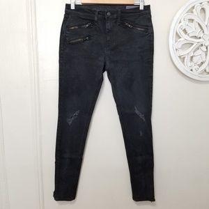 Rag and bone size 30 moto skinny jeans